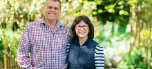 Seventh-generation dairy farmers Julian and Cathy Raine of Nelson are teaming up with glass manufacturer O-I to bring A2 cows' milk fresh from the farm to milk lovers around New Zealand, in one-litre glass bottles under the name Aunt Jean's Dairy