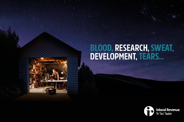 BLOOD, RESEARCH, SWEAT, DEVELOPMENT, TEARS...