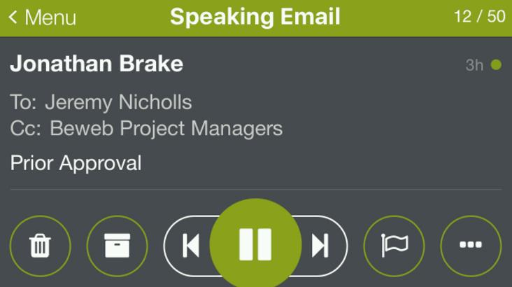 Kiwi app provides in-car email